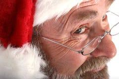 De kerstman sluit omhoog stock afbeeldingen