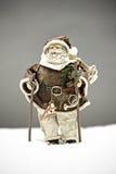 De Kerstman in sneeuw Stock Foto