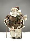 De Kerstman in sneeuw Stock Afbeeldingen