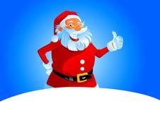 De kerstman toont duim Stock Foto's
