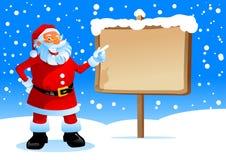 De kerstman toont op de raad Royalty-vrije Stock Afbeeldingen