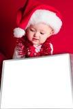De Kerstman van de baby stock foto