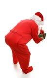 De Kerstman van de bedtijd van erachter royalty-vrije stock afbeeldingen