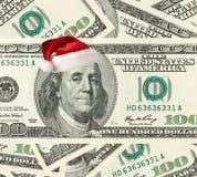 De Kerstman van de dollar Stock Afbeelding