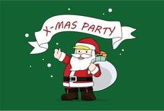 De Kerstman van de Kerstmispartij Stock Fotografie