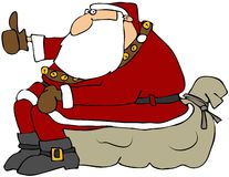 De Kerstman van de lift royalty-vrije illustratie