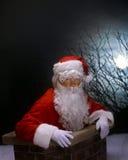De Kerstman van de schoorsteen royalty-vrije stock afbeelding