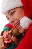 De Kerstman van de vrouw Stock Fotografie