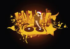 DE KERSTMAN VAN DJ vector illustratie