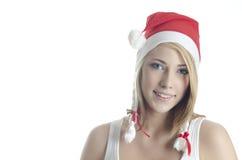 De Kerstman van het meisje royalty-vrije stock fotografie
