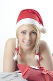 De Kerstman van het meisje royalty-vrije stock foto's