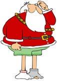 De kerstman verloor Zijn Broek stock illustratie