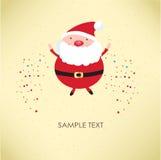 De Kerstman voor retro kaart Stock Afbeelding