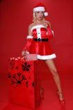 De kerstman wil u Stock Foto's