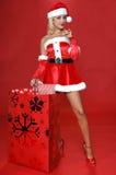De kerstman wil u Stock Afbeelding