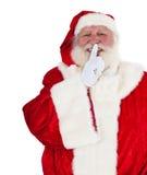 De Kerstman wil u een geheim houden royalty-vrije stock afbeelding