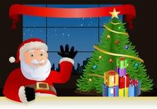 De Kerstman zegt hallo Royalty-vrije Stock Fotografie