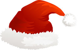 De Kerstmanhoed van het Kerstmispictogram Stock Afbeeldingen