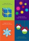 De Kerstmisachtergrond met stelt en decoratie voor royalty-vrije illustratie