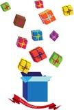De Kerstmisachtergrond met stelt voor stock illustratie