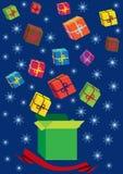 De Kerstmisachtergrond met stelt voor vector illustratie