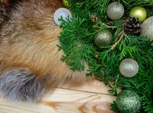 De Kerstmisbal siert het decor nieuw jaar van de Kerstmisvakantie royalty-vrije stock fotografie
