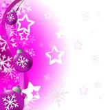 De Kerstmisballen vertegenwoordigt Vrolijke Kerstmis en Snuisterijen Stock Foto