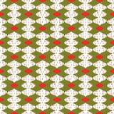 De in Kerstmiskaart siert feestelijke patroonsnuisterijen stock illustratie