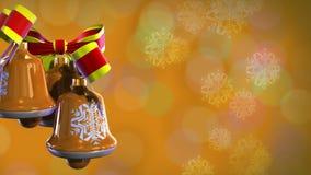 De Kerstmisklokken roteren (achtergronden) stock footage