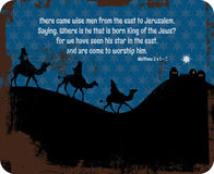 De Kerstmiskoningen ondertekenen Stock Afbeelding