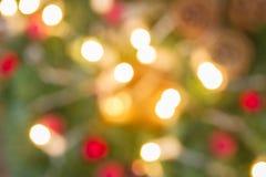De Kerstmislichten defocused achtergrond Stock Afbeelding