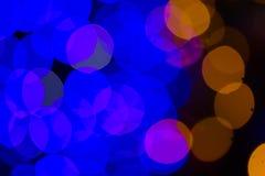 De Kerstmislichten defocused achtergrond Royalty-vrije Stock Foto