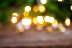 De Kerstmislichten defocused achtergrond Stock Afbeeldingen
