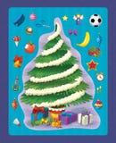 De Kerstmisoefening - Kerstmisboom - illustratie en het werkpagina voor de kinderen royalty-vrije illustratie