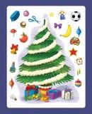 De Kerstmisoefening - Kerstmisboom - illustratie en het werkpagina voor de kinderen vector illustratie