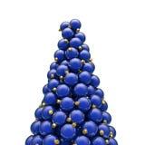 De Kerstmisornamenten bereiken blauw een hoogtepunt Royalty-vrije Stock Afbeelding
