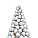 De Kerstmisornamenten bereiken wit een hoogtepunt Royalty-vrije Stock Foto
