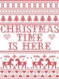 De Kerstmistijd van het Kerstmispatroon is hier hymne naadloos die patroon door de Noordse cultuur feestelijke winter wordt geïns stock illustratie
