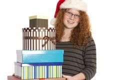 De Kerstmistoejuiching en stelt in een Stapel voor royalty-vrije stock foto's