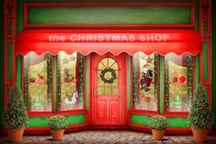 De Kerstmiswinkel royalty-vrije stock afbeelding