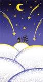 De Kerstnacht van de fee royalty-vrije illustratie