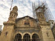 De Ketchouamoskee (keciovacamii) wordt hersteld door Turkse overheid De moskee is één van belangrijke I Stock Fotografie