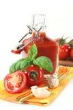 De Ketchup van de tomaat Stock Foto's