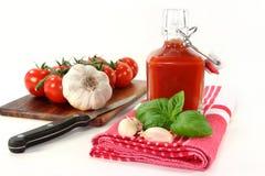 De Ketchup van de tomaat Stock Foto