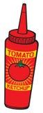 De ketchupfles van de tomaat Stock Afbeeldingen