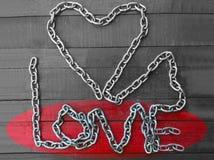 De keten van de liefde Stock Foto