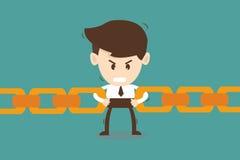 De keten van de zakenmanverbinding samen - Bedrijfsconcept Stock Fotografie