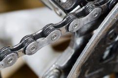 De ketting van de fiets Stock Afbeeldingen