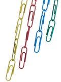 De ketting van de paperclip Stock Foto