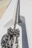 De ketting van het bootanker Stock Foto
